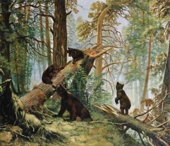 Шишкин - Утро в сосновом лесу (Калиго)