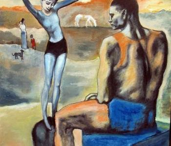 Пикассо - Девочка на шаре (Луна)