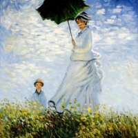 Клод Моне - Девушка с зонтом (Калиго)