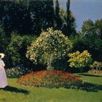 Моне - Дама в саду Сэнт-Адресс (Морфо)